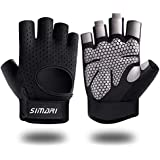 SIMARI Workout Gloves Mens and Women Weight Lifting Gloves with Wrist Support for Gym Training, Full Palm Protection for Fitn