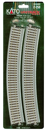 HOユニトラック線路 曲線線路 R790-22.5° (4本入) #2-250