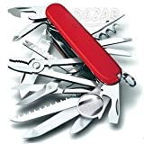 DEZAR 31徳 万能マルチツール 便利なケース付 (赤) 小型ナイフ 携帯工具 キャンプ アウトドア サバイバル 防災