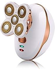 クリッパーシェーバー坊主頭ミニヘアシェーバー髭トリマーグルーミングキットメンズプロフェッショナルコードレス電動IPX7防水かみそりロータリーシェーバー(USB充電付き男性用)