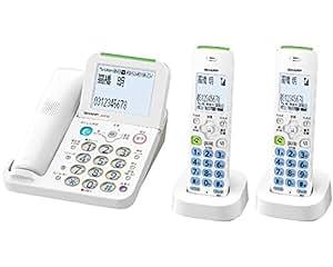 シャープ デジタルコードレス電話機 子機2台付き 振り込め詐欺対策機能搭載 JD-AT85CW