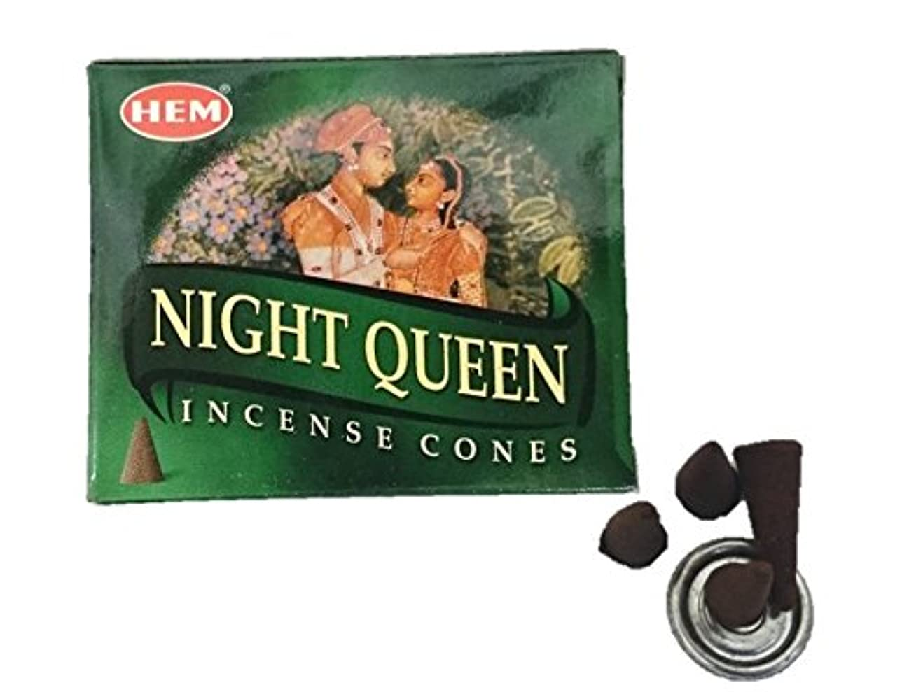おしゃれな肌飾るHEM(ヘム)お香 ナイトクイーン コーン 1箱