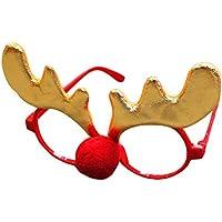 (ラボーグ)La Vogue クリスマス 眼鏡 サングラス 大人 子供 コスチューム コスプレ 仮装 小物面白 メガネ サンタ 帽子 アクセサリー パーティーグッズ B