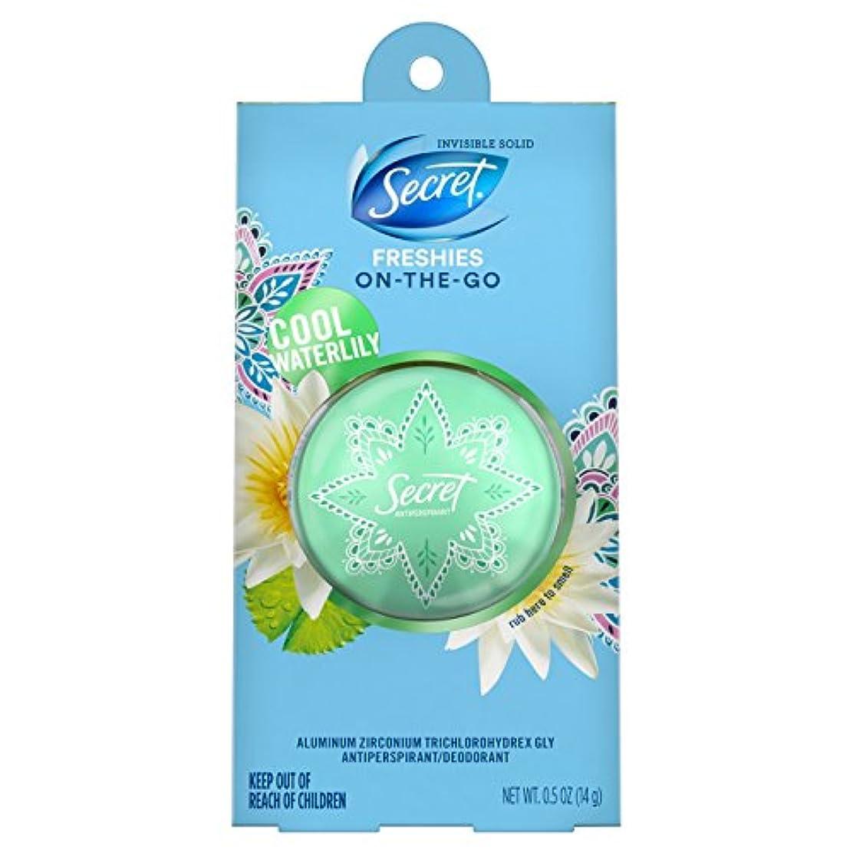 飢饉挑むヒステリックSecret Freshie On the GO Cool Waterlily Invisible Solid 0.5oz シークレットデオドラント オン ザ ゴー_クールウォーターリリー 14g 海外直送 [並行輸入品]