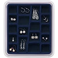 Neatnix STAX Jewelry Organizer Tray, Midnight Blue, 18 Compartments
