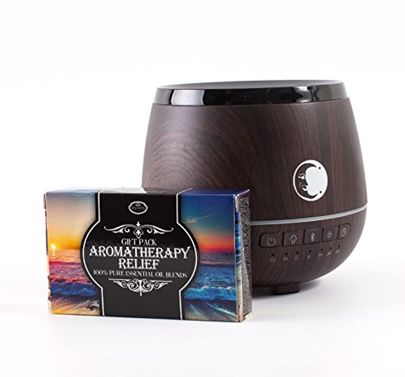ぞっとするような櫛悲しいMystic Moments | Wood Effect Aromatherapy Oil Ultrasonic Diffuser With Bluetooth Speaker & LED Lights + Aromatherapy...