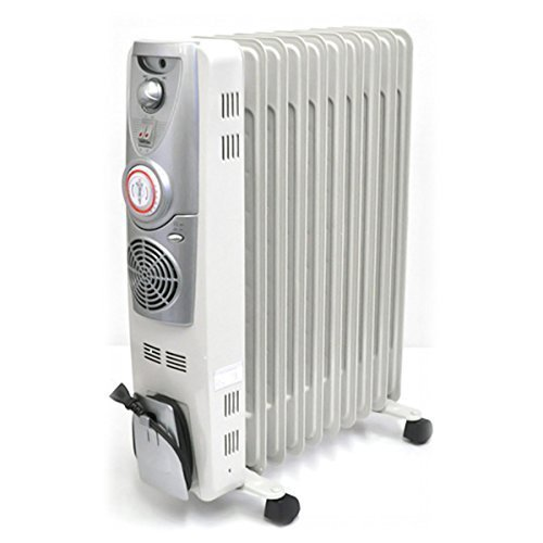 iimono117 高性能 ファン付き 10枚 ストレート オイルヒーター 【8畳~12畳】 / 暖房 冬 ヒーター