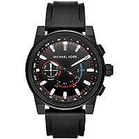 Michael Kors Grayson Black Stainless Steel & Silicone Hybrid Smartwatch MKT4010