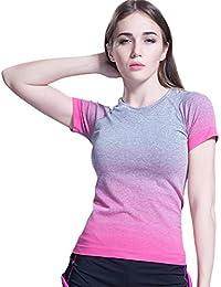 (オナーファション) Honour Fashion レディース 吸汗速乾 スポーツ ヨガ ランニング フィットネス 半袖 tシャツ(全5色)