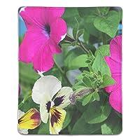 パソコンデスクパッド マウスパッド 多機能 防水性 耐油性 長寿命 携帯便利 ペチュニアパンジーの花