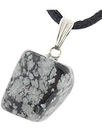 Miner 's Horde – Tumbled Nuggets Snowflake Obsidian 12 – 20 mm、グレーブラック – 20