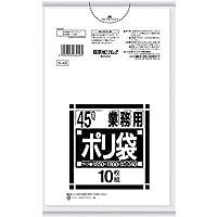 日本サニパック スタンダード ポリ袋 45L 白半透明 0.040mm 400枚 10枚×40冊入 N-49