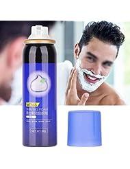 3種類50グラムシェービングクリーム泡用男性栄養シェーブジェル柔らかくするひげフェイシャルケアクリーンシェービングクリーム適切な油性ハイブリッド肌(#2)