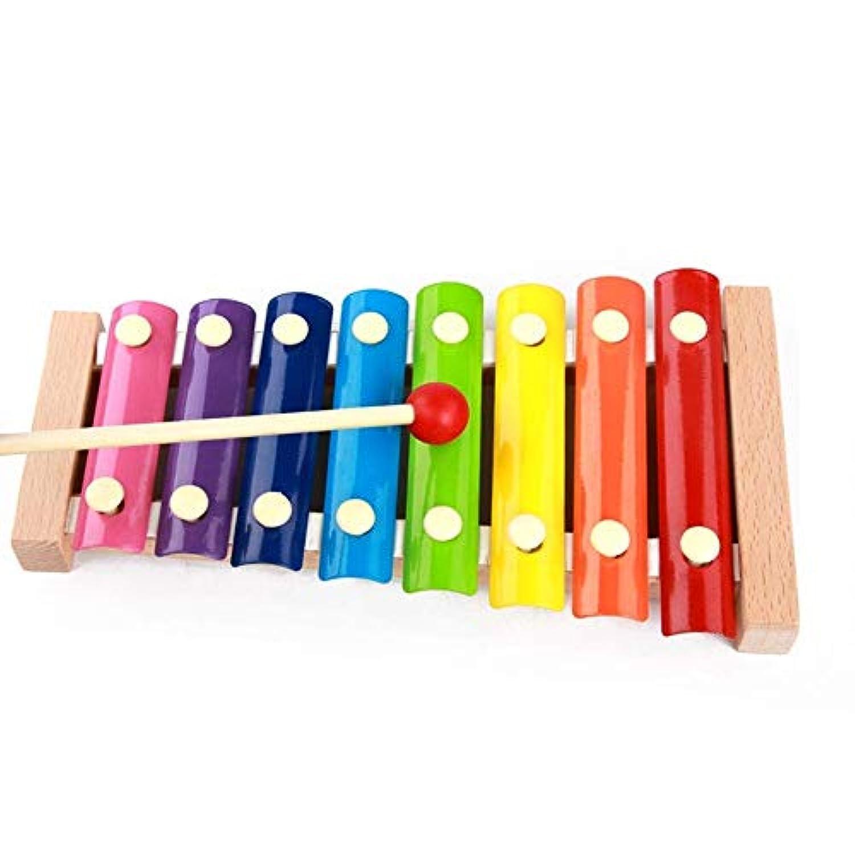 木製音楽玩具 Vacio Kids 知育玩具 幼児 子供 男の子 女の子 マレット付き 8音 メタルキー付き