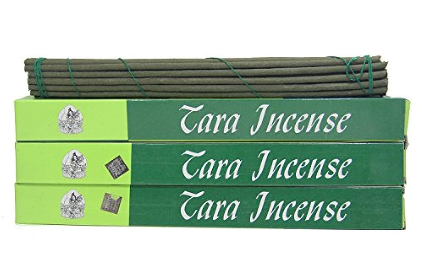 の間でパイントストリーム(Large 84 Sticks) - DharmaObjects 3 Box Tibetan Green Tara Incense Sticks (Large 84 Sticks)