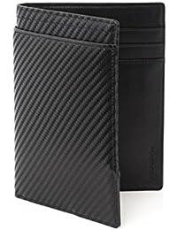 Wurkin StiffsスリムRFID Blocking Passport Walletブラックカーボンファイバー