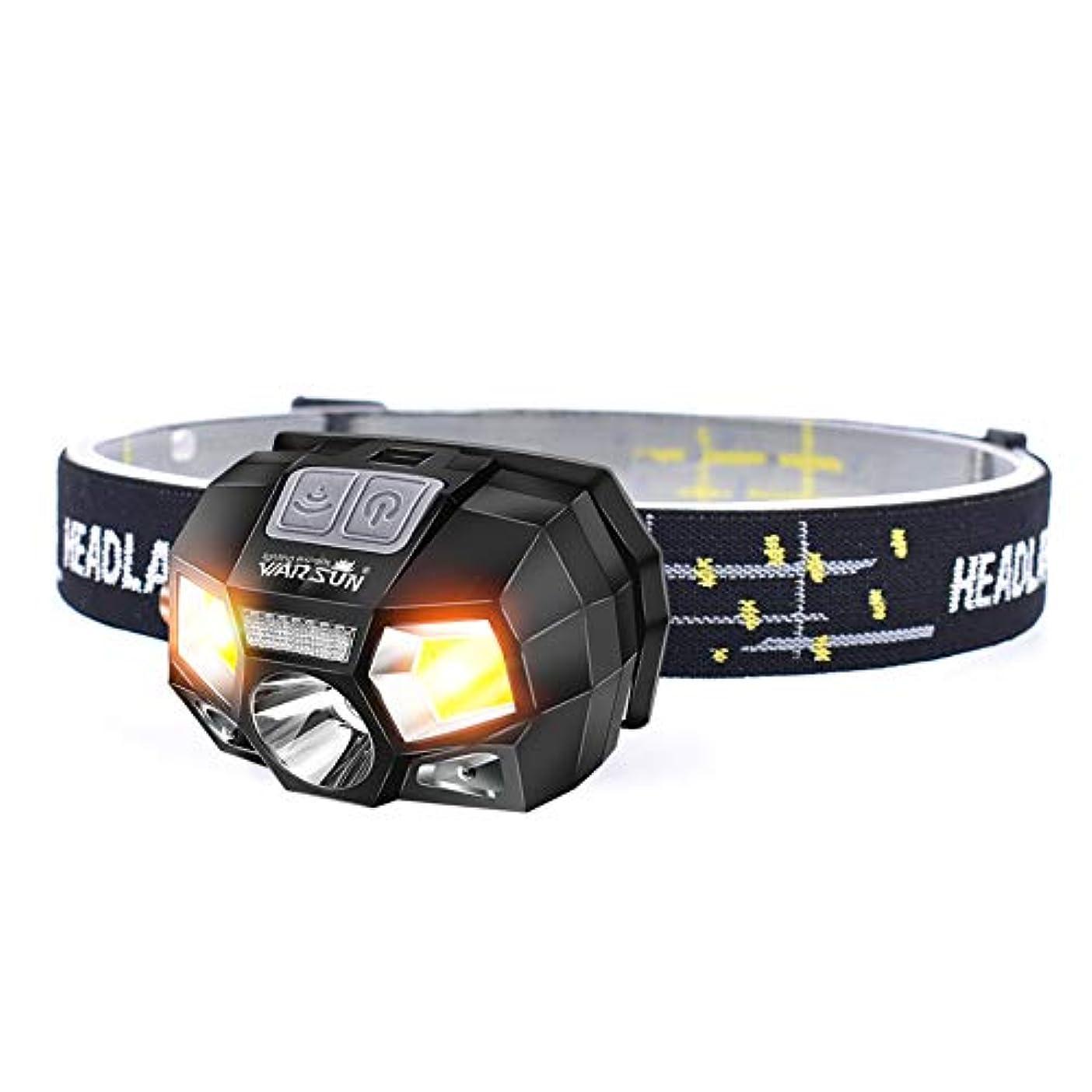 グラマー市町村代わってMakgood USB充電式ヘッドライト センサー機能 防水仕様 角度調整可能