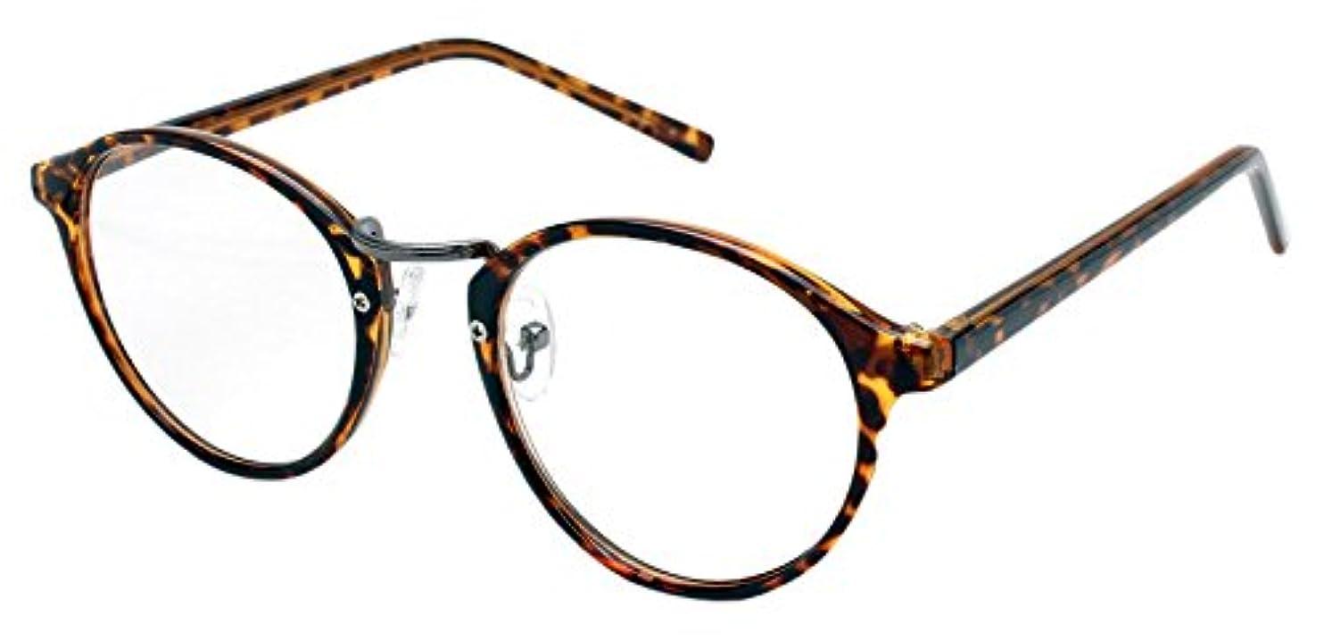 横痴漢まだRESA レサ 老眼鏡に見えない 40代からのスマホ老眼鏡 丸メガネタイプ ブラウンデミ RS-09-1 +2.50