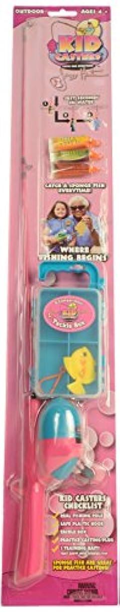 農学お金ゴムKid Casters Fishing Kit (Real Rod and Reel Tackle Box Casting Plug Safe Hook and Training Lures) by Kid Casters [並行輸入品]