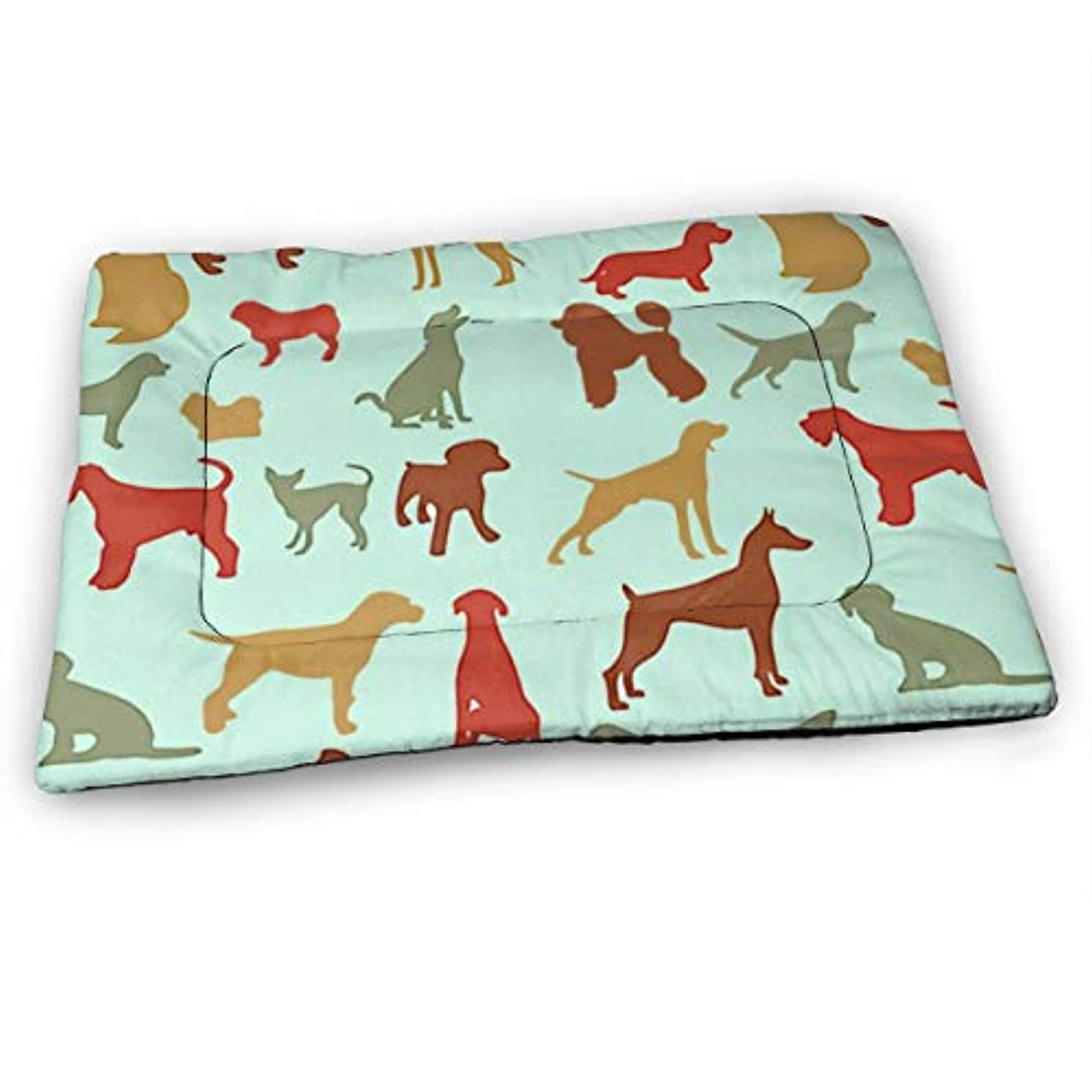 練習是正真実にペットベッド ペットマット 犬のシルエット ペットカーペット ペットシーツ ペットクッション 中型 犬 猫 ベッド 防水 速乾 消臭 滑り止め ふわふわ 暖かい ペットハウス 清掃しやすい 睡眠マット 通年使える