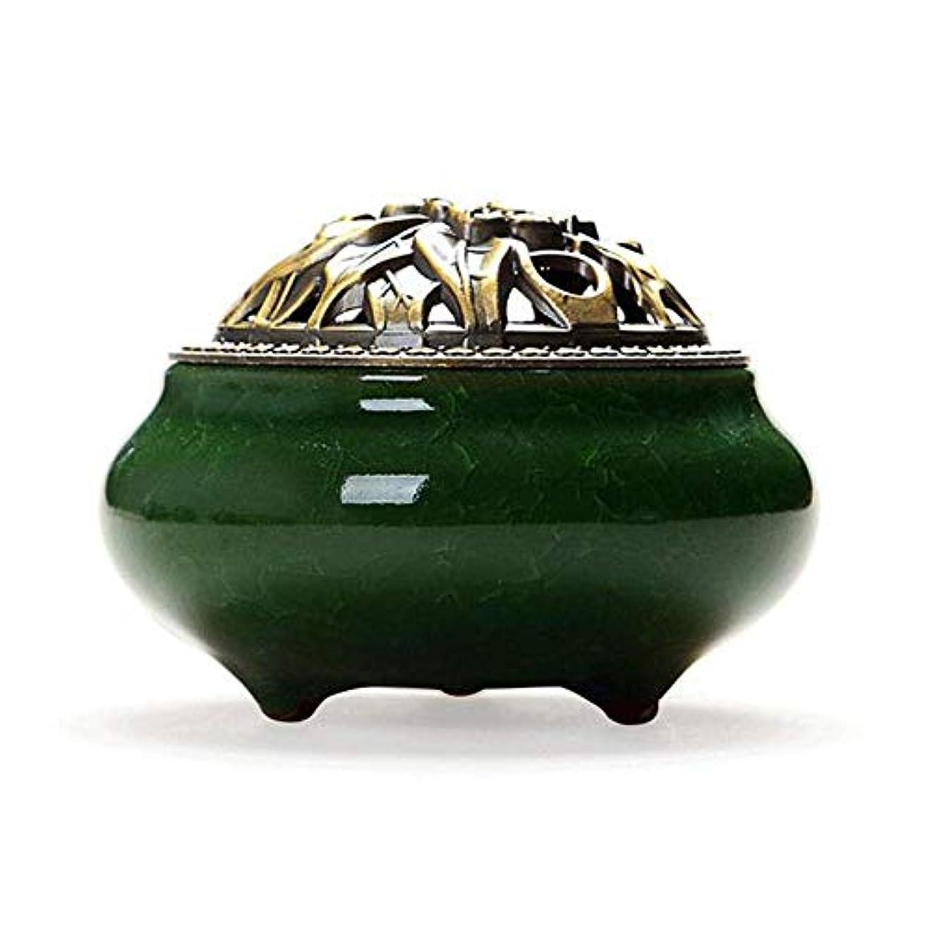 組み合わせ調和のとれた魅惑的なChinashow セラミック 香 バーナー 香 スティック ホルダー コーン バーナー 磁器 香 ホルダー ホーム 脱落 エメラルド