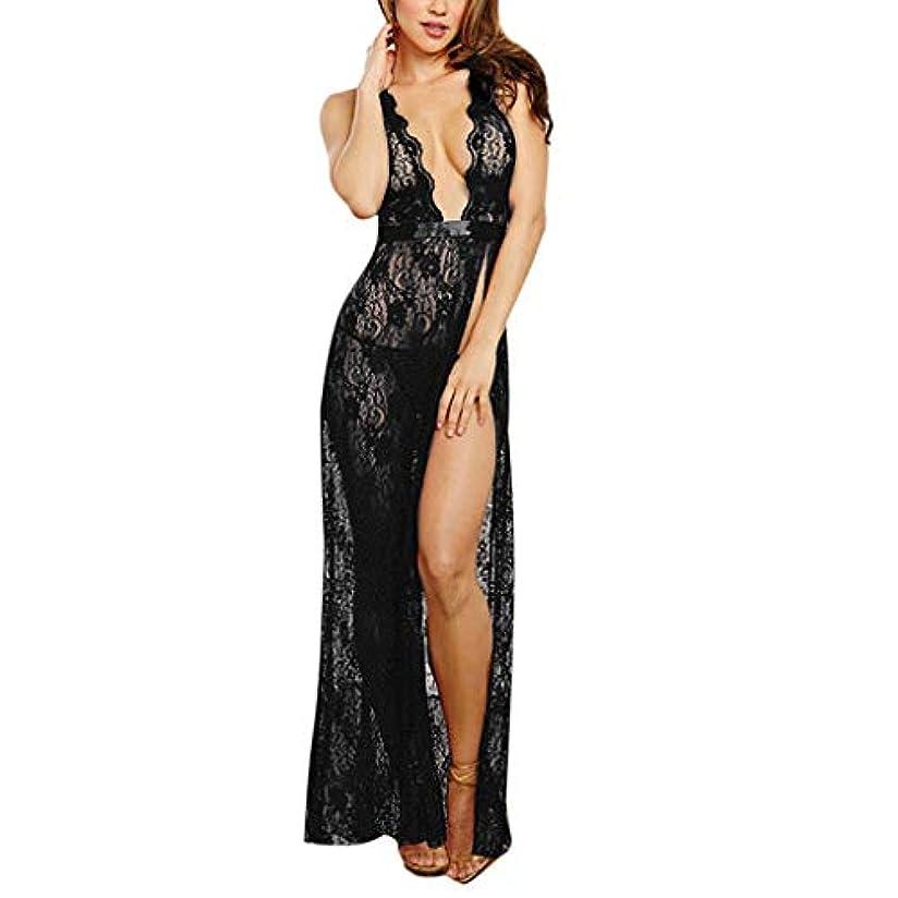 活気づける油風が強いセクシーランジェリーストラップ美バックディープVレースロングナイトドレスかわいい 過激 透け キャミソール 情趣 女性 エロ下着 アンダーウェア ビキニ 全身 レース 軽量シースルー スリム 福袋