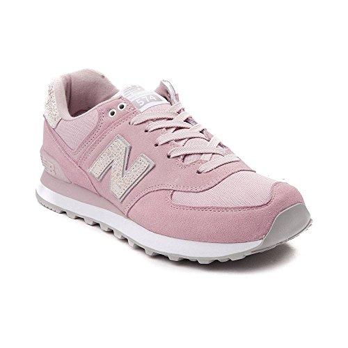 (ニューバランス) New Balance 靴・シューズ レディーススニーカー Womens New Balance 574 Athletic Shoe Light Pink/Pearl ライト ピンク/パール US 8 (25cm)