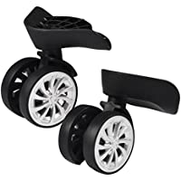 Luggage Wheels, 2 Pcs Durable Suitcase Wheels Swivel Luggage Mute Wheel with Screw for Repair