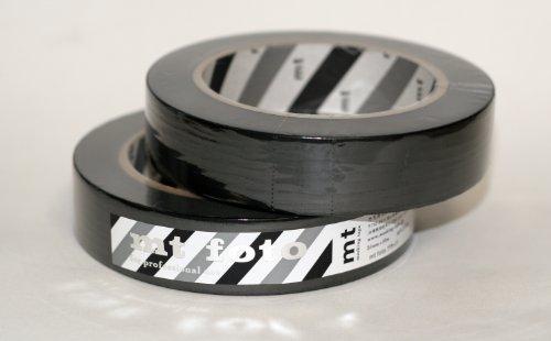 カモ井加工紙 マスキングテープ 25MM幅×50M巻 MTFOTO01 Mt foto ブラック