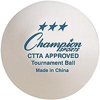Championスポーツ3-star Tournament 40 mmテーブルテニスボール、6パック