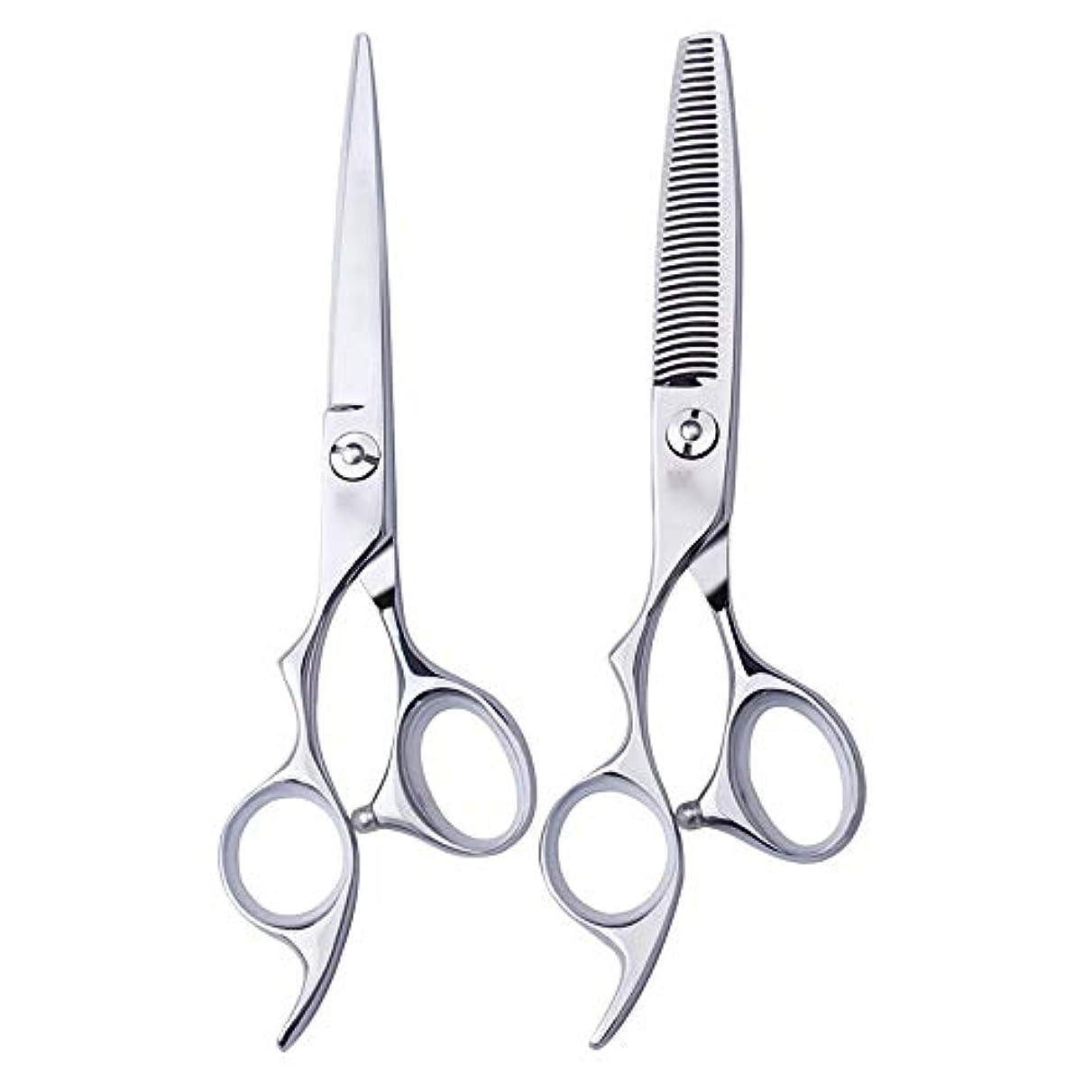 探検破滅的な改修する理髪用はさみ 6インチ美容院プロのヘアカット左手はさみ理髪はさみ、左利き用特殊理髪はさみプロの本格的なヘアカットはさみステンレス理髪はさみ (色 : Silver, Design : Tooth)