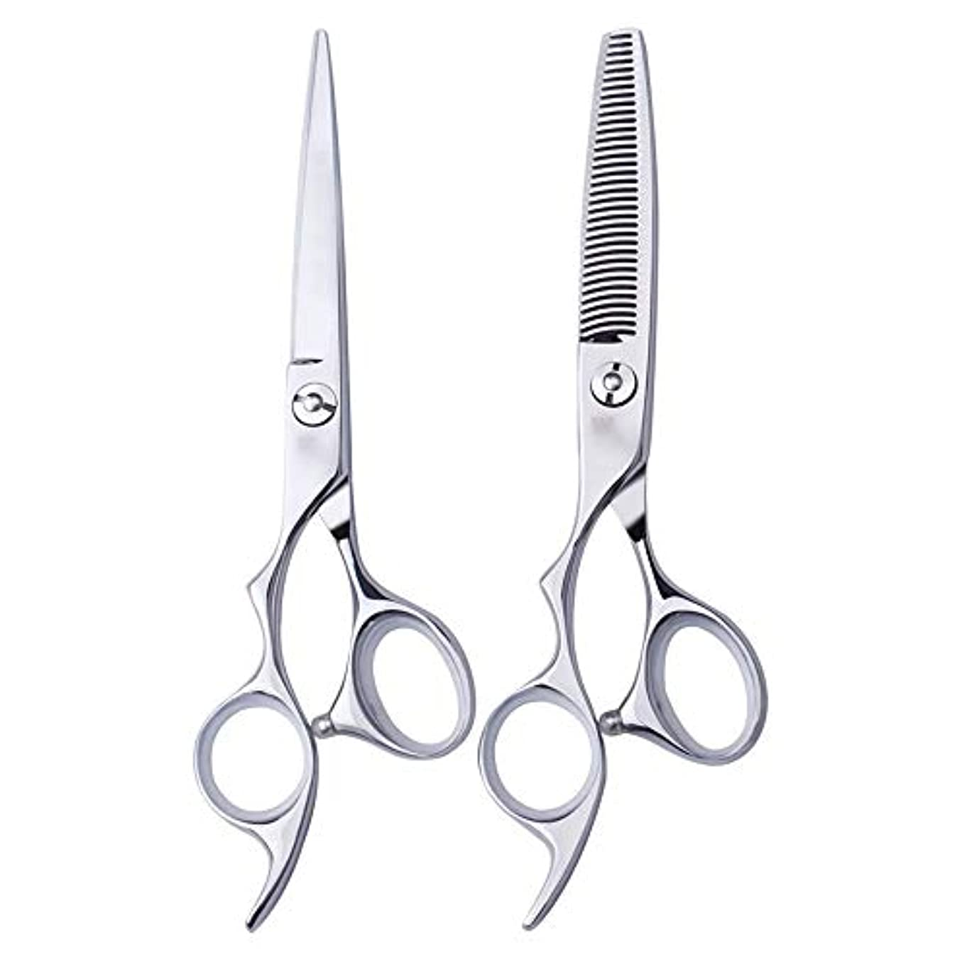 頬送信する抗生物質6インチ美容院プロのヘアカット左手はさみ理髪はさみ、左利き用特殊理髪はさみプロの本格的なツール ヘアケア (色 : Silver, Design : Tooth)