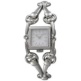GUCCI (グッチ) 腕時計 シニョリーア 116SM YA116505 SS ホワイトシェル 22Pダイヤ レディース