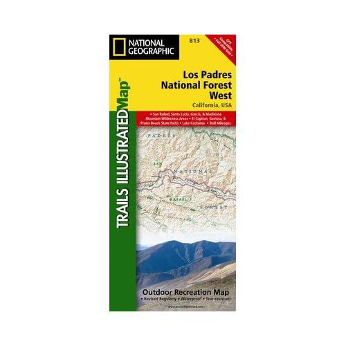 ナショナルジオグラフィックマップTI00000813ロスパドレス国立森林公園西の地図
