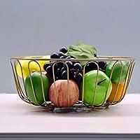 SLH アイアンアートフルーツバスケットリビングルーム家庭用大容量スナックドライフルーツボウルキッチンフルーツと野菜バスケット