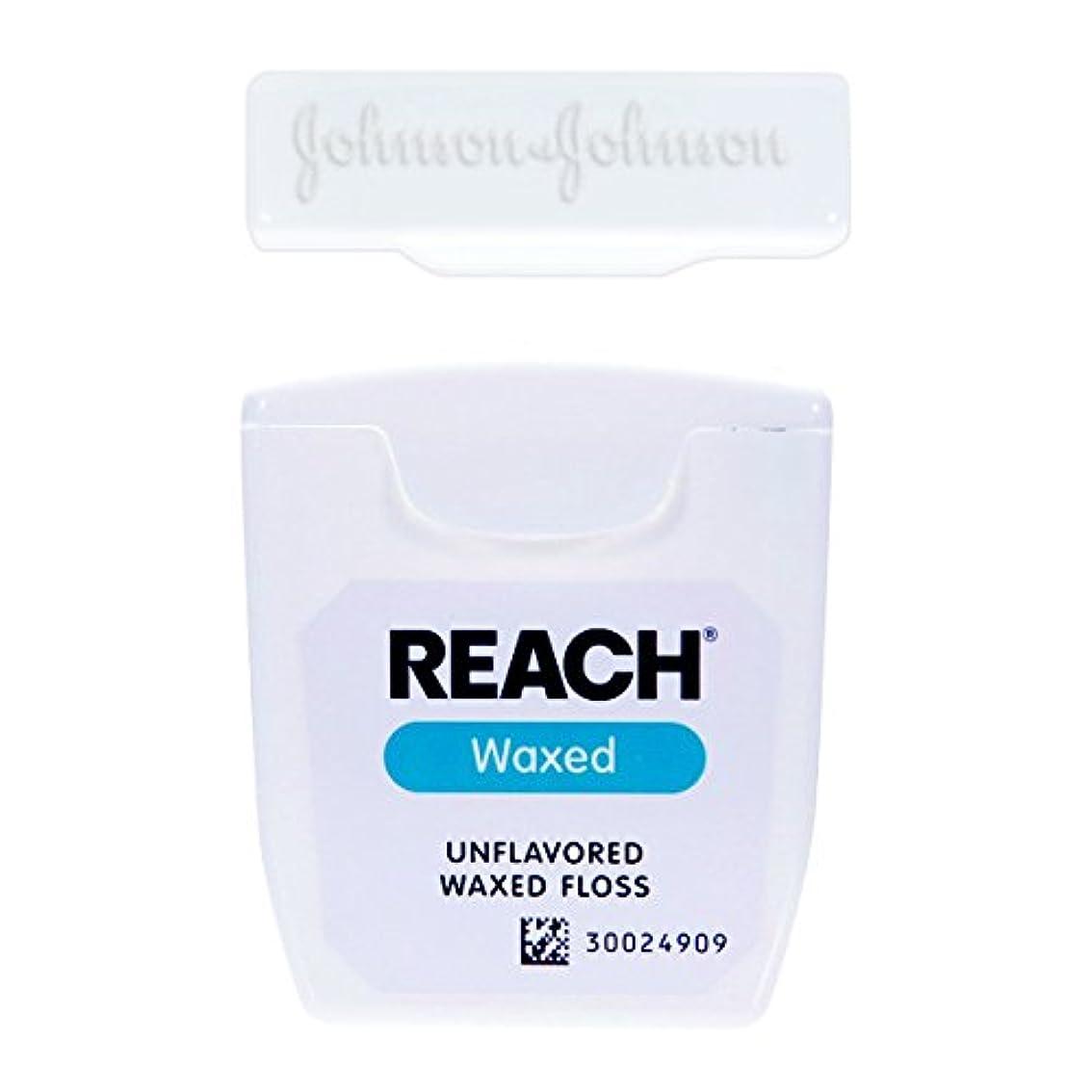 読みやすさインシデント封筒輸入品 J&J REACH デンタル フロス 55ヤード 50.2m (ワックス?ノンフレーバー)