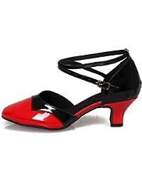HROYL レディース ラテン ダンス シューズ 女性 社交 ダンス 靴 ローヒール 社交 ステージ ダンスシューズ バトゥーダンスシューズ 513-518