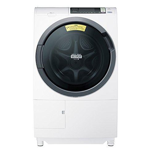 日立 ドラム式洗濯乾燥機 ビッグドラム 左開き 10kg ホワイト BD-SG100AL W