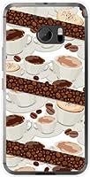 エイチティーシー テン [HTV32] HTC 10 ハードカバー ケース コーヒーとコーヒー豆 au スマホケース エーユー スマホカバー デザインケース