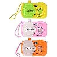 Chone 1pc Pretend Playカメラトイカメラ、ライト投影デジタルシミュレーション玩具、ベビー幼児教育 – カラーランダム