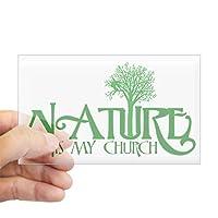 CafePress–自然は私の教会ステッカー(長方形)–長方形バンパーステッカー車デカールステッカー Small - 3x5 122134487-0-243-0
