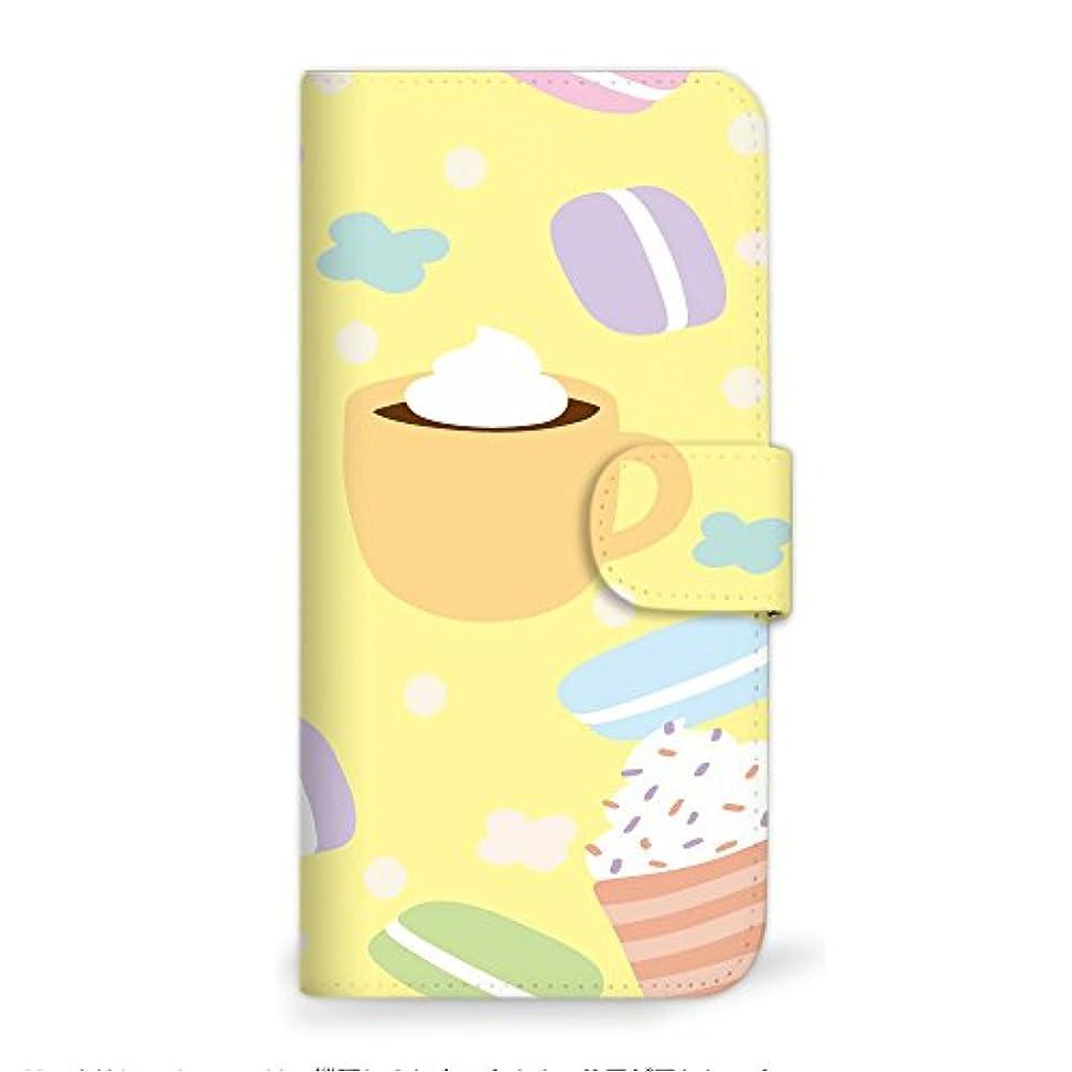 ベット会話型グリーンランドmitas iPhone7 ケース 手帳型  マカロン イラスト パステル イエロー (249) SC-2341-YE/iPhone7