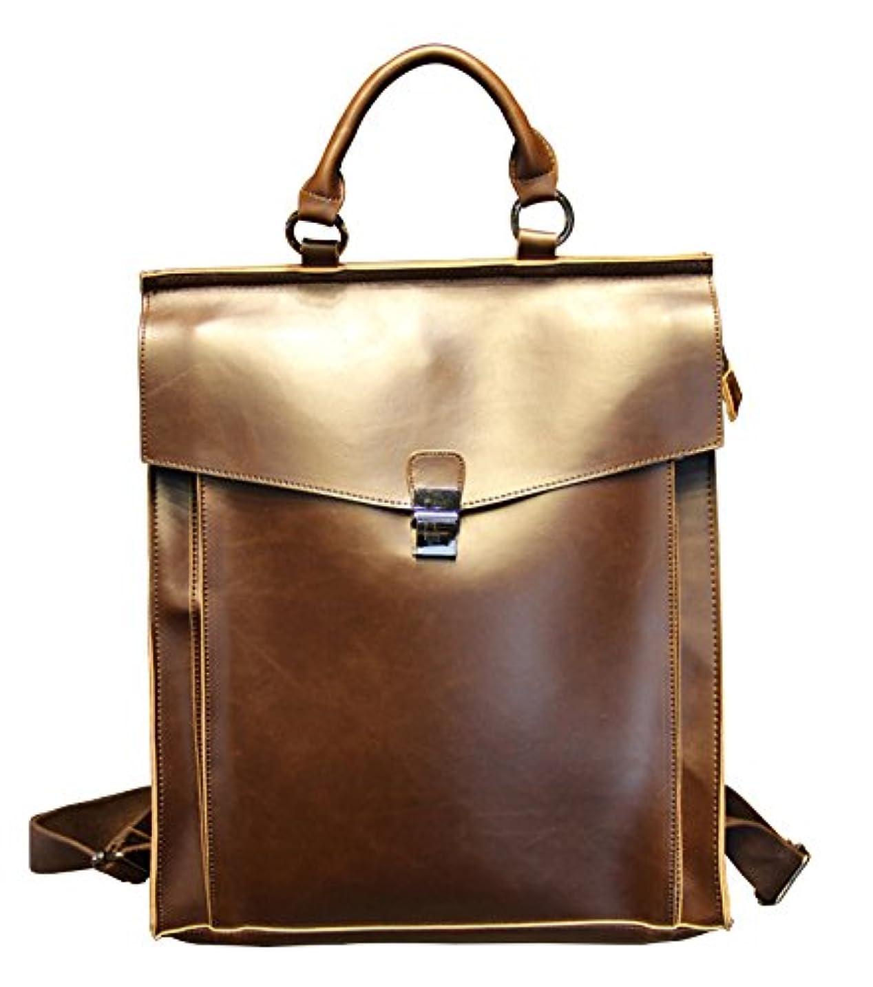 マイクロプロセッサリール架空の高級 革 2色 リュックサック バッグ バック バックパック メンズ レディース レザー 皮 鞄 通勤 通学 軽量 大容量