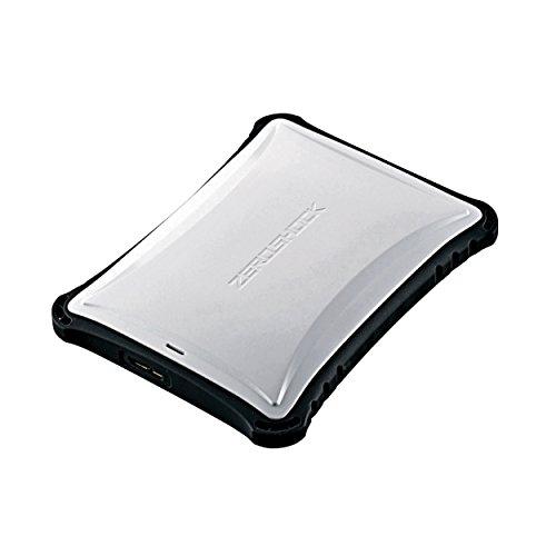 エレコム ポータブルHDD 1TB USB3.0 TV録画対応  耐衝撃 米軍MIL規格取得 ホワイト ELP-ZS010UWH