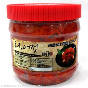 韓グルメ-KANGURUME 冷凍 韓餐 イカキムチ1kg