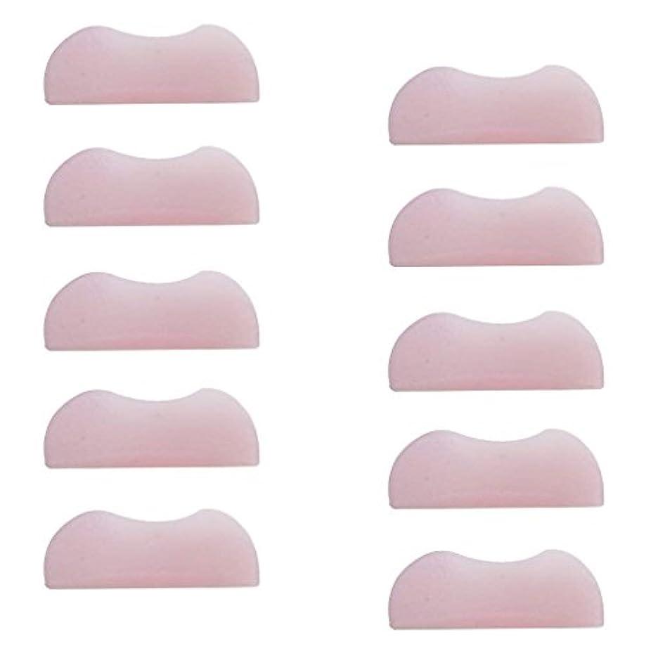 服の間にむさぼり食う5組 シリコンのまつげパッド まつげ美容用のまつげパーツキット