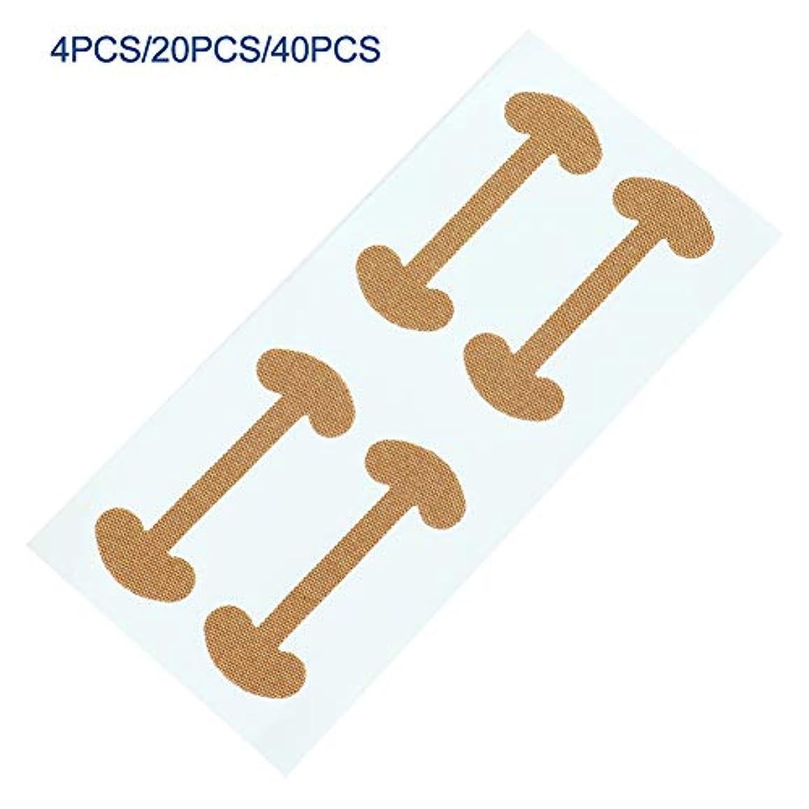 大きさコート撤回する爪補正ステッカー、陥入爪テープ補正テープステッカー、爪周囲爪爪テープ回復コレクター、つま先の癒しの指の爪のケアツール(40個)