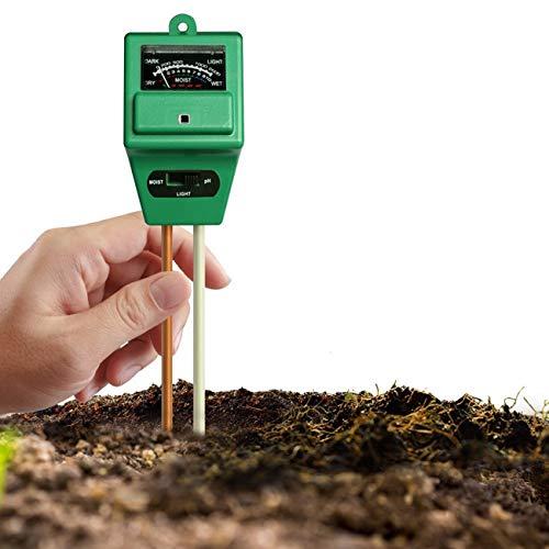 JMsDream PH Soil Meter, 3 in 1 Soil Tester Moisture Meter for PH, Light & Moisture Garden Plant Tester for Home, Farm, Lawn, Indoor & Outdoor (No Battery Needed)
