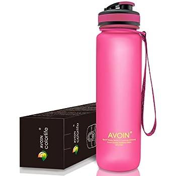 AVOIN colorlife Tritan プラスチック製 スポーツウォーターボトル 500ml & 1000ml & 1500ml カラバリも豊富 BPA FREE