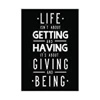 Quote Typography Kruse Life Giving Having Wall Art Print 見積もりタイポグラフィ生活壁